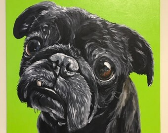 Custom dog Painting Custom dog portrait