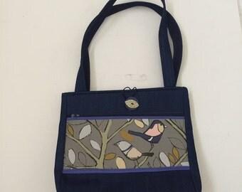 Blue Birds Handmade Tote Bag
