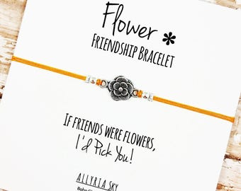 Easter gift ideas etsy flower charm friendship bracelet with card bff best friend gift jewelry spring negle Gallery