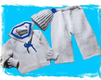 baby sailor suit pattern baby pants pattern birthday gift pattern baby pattern baby sweater pattern baby cap  pattern baby kid pattern