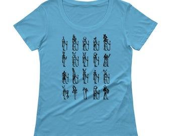 Ancient Egyptian Deities Tshirt - Womens T Shirt - American Apparel Womens T Shirt