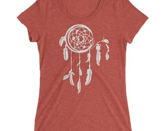 Dreamcatcher Tshirt - Dreamcatcher Shirt - Dreamcatcher Tee - Graphic Tee For Women - Ladies Fitted Tshirt - Triblend Tshirt