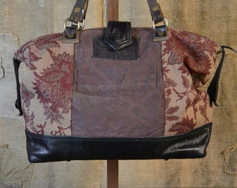 """UPCYCLED HANDBAG from VINTAGE Elements - Made in Italy Eco-friendly style """"Rodi Milici Piccola"""""""