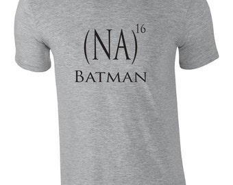 Funny tshirt for Batman lovers.  Na na na na ...batman! Batman song shirt.  Funny shirt.  Super hero shirt.  Witty tee by Pink Pig Printing.