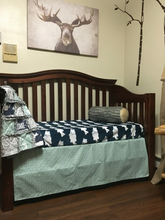 Gone fishing nursery collection fishing crib bedding for Fish crib bedding