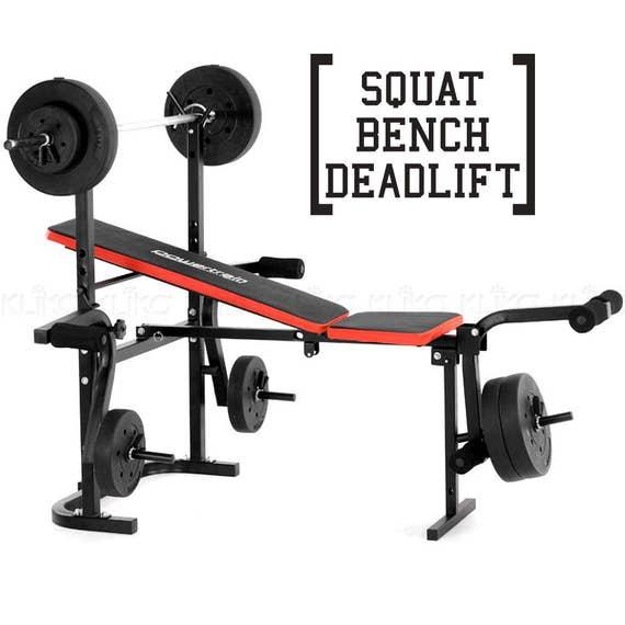 Bowflex Revolution Folded Up Dimensions: Bench Squat Deadlift Workout