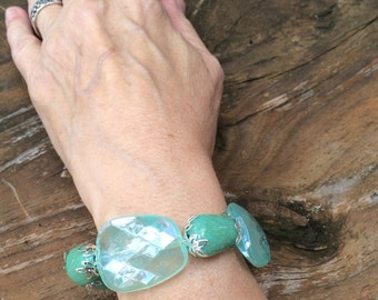 Frozen Fairytales - Turquoise and silver bracelet