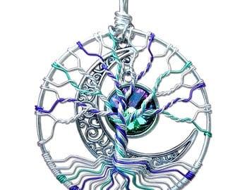 Mardi Gras Tree of Life Pendant