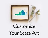 Customize Your State Watercolor Art