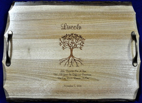 Wedding Gifts For Parents Ireland : ... Gift For Couple ~ Engraved Serving Tray ~ Wedding Gift For Parents