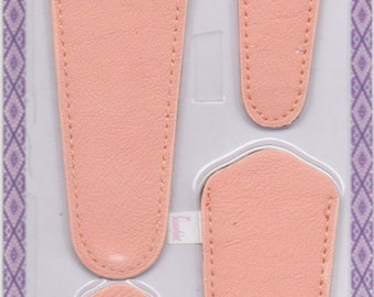 Scissors sheaths -VALUE PACK-4 sizes/pk-Designer Covers w/ScissorGripper Sewing Quilting. Beautiful Light Peach. S-65. Free Shipping.