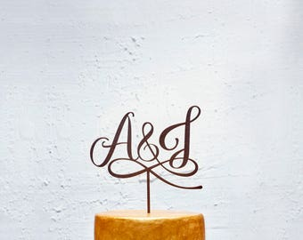 Customized Wedding Cake Topper Initials, Personalized Cake Topper for Wedding, Custom Personalized Wedding Cake Topper, Monogram Cake Topper