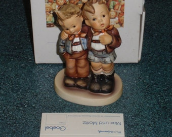 Max And Moritz Goebel Hummel Two Brothers Figurine #123 TMK 7 With Original Box Cute Collectible Birthday Gift!