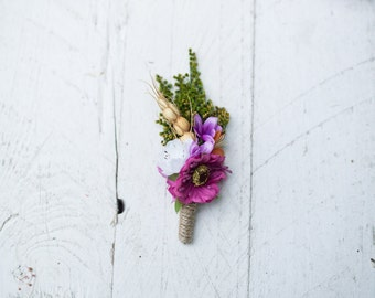 wedding boutonnière grooms boutonniere button hole groomsmen corsage rustic wedding boutonniere