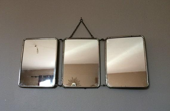 Miroir de barbier triptyque vintage salle de bains par - Miroir triptyque de barbier ...