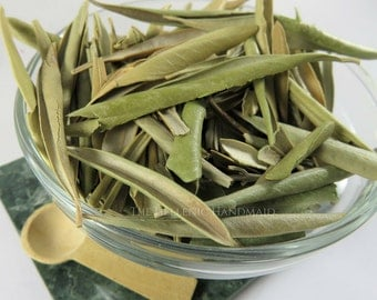 Olive Leaf 1oz, Whole Olea Europaea Dried Herb for Incense or Offering to Athene, Greek Athena