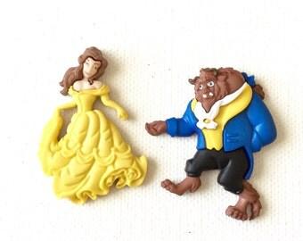 Belle Pin, Belle Tie Tack,Beast Pin, beast Tie Tack, Beauty and the Beast Pin, Beauty and the Beast Tie Tack, Belle Brooch, Beast Brooch