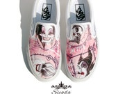 Deliciously Evil - Custom Mens Vans or Keds - Unisex Shoes- Wedding Shoes- Geek-Bride- Bridal Shoes- Prom-Graduation- Gift- Custom Shoes