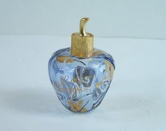 Empty perfume bottle Lolita Lempicka eau de parfum purple white and gold glass and metal French perfume 1.7 fl oz