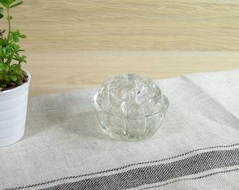 Glass flower holder 9 holes frog vase vintage Size number 3 Made in France