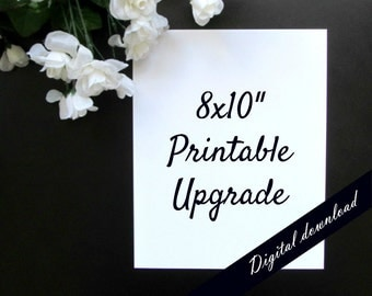 "8x10"" Print Printable - Upgrade Any 5x7"" Printable - Black and White Minimalist Digital Download"
