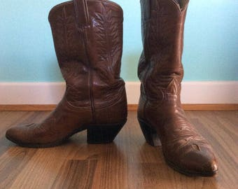 Vintage Leather Cowboy Western Boots - Women's US Size 7.5