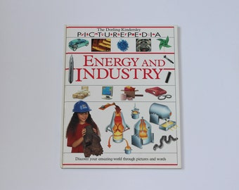 Childrens Book Science Energy and Industry Picturepedia DK Dorling Kindersley Vintage Elementary Middle School Student Library Home School