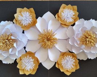 Paper flower backdrop, Paper Flowers for Dessert Table, Large Paper Flowers, Sweet Table Backdrop, Dessert table decor