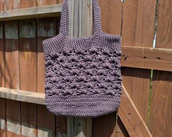 Crochet Tote - Cotton Bag - Market Tote