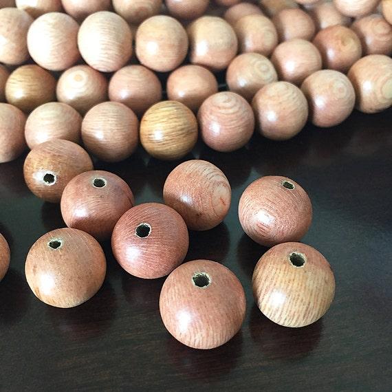 grosses perles en bois perles de bois de rose naturel perles. Black Bedroom Furniture Sets. Home Design Ideas
