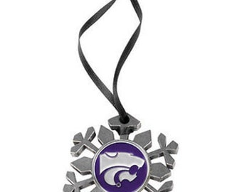 Kansas State Wildcats Snowflake Ornament