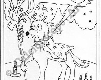 Kuil Kleurplaat Volwassen Hond Kleurplaten Etsy