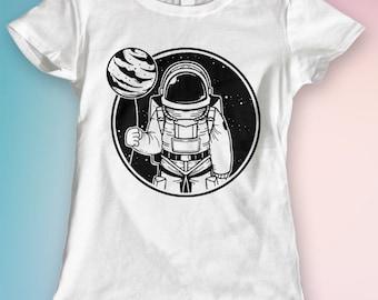 Astronaut T shirt Tshirt Tee T-shirt Top, Men's Women's Men Women Clothing Ladies, Guys, Youth, Kids.