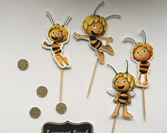 Maya the Bee cup cake toppers