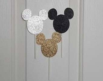 Minnie Mouse Toppers, Cake Toppers, Cupcake Toppers