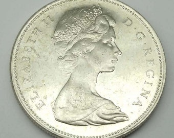 1966 Canadian Silver Dollar In Circulated Condition Coin