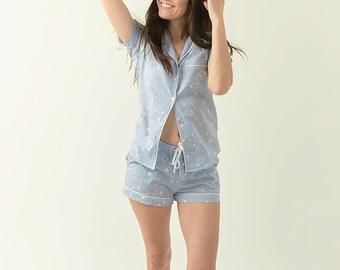 Blue Star Pajama Set