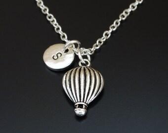 Hot Air Balloon Necklace, Hot Air Balloon Charm, Hot Air Balloon Pendant, Hot Air Balloon Jewelry, Travel Jewelry, Travel Necklace,Traveller