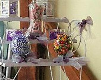 6 Candy buffet jars
