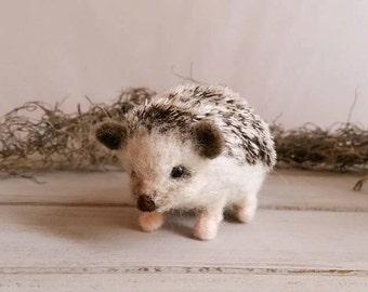 Wool Felted Soft Sculpture Hedgehog, Handmade Needle Felted Hedgehogs, Wool Hedgehog, Felt Hedgehog,