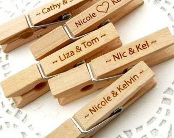 Clothes Pins, Engrave/Personalize/Customize-Wedding, Bridal/Baby Shower Gifts/Favors, Momentos, Keepsakes, Party/Occasion Decor