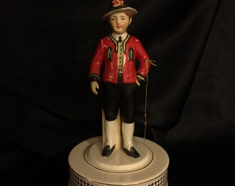 Vintage Schmid Brothers Music Box, Italian Soldier