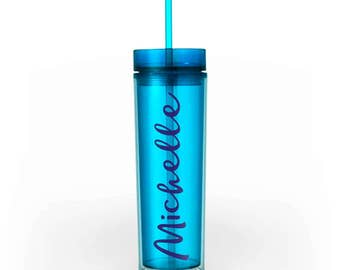 Personalized Cup - Aqua. Bachelorette Cup, Custom Cup, Bridesmaid Gift, Rush Gift, Party Cup, Monogram Cup, Monogram Gift, Custom Tumbler