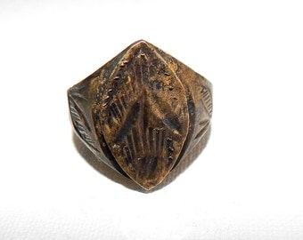 Ancient bronze  Ring XVI-XVIII Century , Bronze, Archaeological find, vintage, antique, # et 569