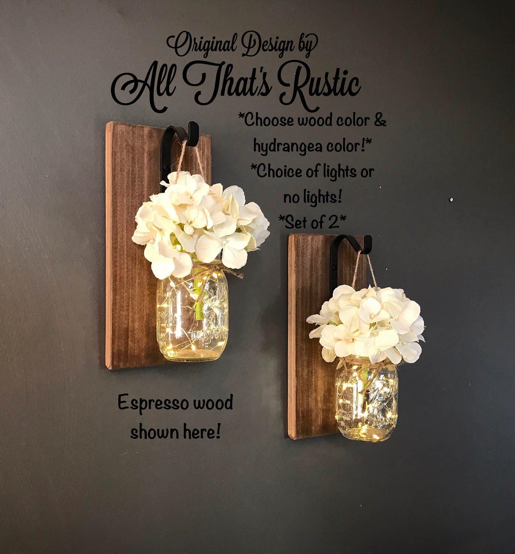 Rustic Home Decor Home Amp Living Set Of 2 Hanging Mason Jar