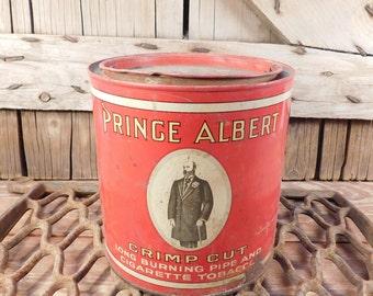 Vintage Prince Albert Tobacco Tin, Farmhouse, Collectible Advertising Tin