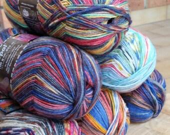 Opal sock yarn, HUNDERTWASSER , 4 Ply , 100g, 425 mts, wool and nylon