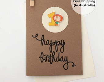 1st Birthday Card – 1st Happy Birthday Card – Age 1 Happy Birthday Card – First Happy Birthday Card – Happy 1st Birthday Card