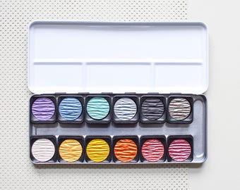 Glitter Watercolors, Pearl Watercolors Paint Box, calligraphy ink paint box