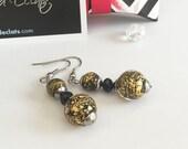 Boucles d'oreilles avec véritables perles de Murano